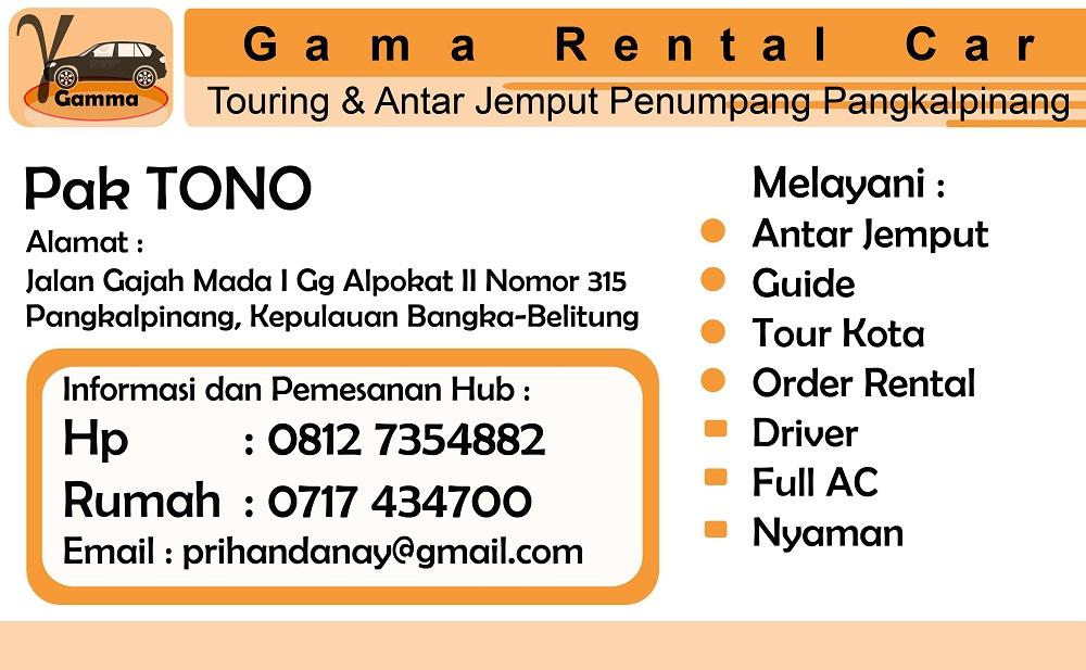Rental Mobil Pangkal pinang_Kartu nama